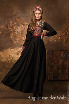 Evening dress a'la Russe /Платье в Русском стиле, женственное платье в макси и миди длине. Эксклюзивное платье, платье в Санкт-Петербурге, в наличии и индивидуальный пошив. Платье от August van der Walz.