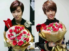 Jeongmin and Youngmin have flowers for you Boyfriend Band, Boyfriend Kpop, Jo Youngmin, Flowers For You, Starship Entertainment, Happy Valentines Day, Shinee, Disney Princess, Janus