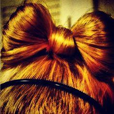 diy hairbow by hair???