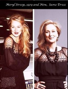 The Memes Factory  Meryl Streep, 1979 and Now, same dress