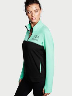 Layer like a pro. That means easy on/off and total comfort (read: brushed fleece). | Victoria's Secret Sport Zip Jacket