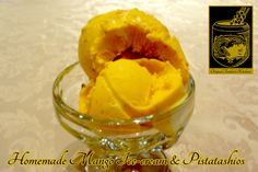 Mango Ice-cream ~ Home-made icecream with pistachios and nuts at the Original Tandoori Kitchens Mango Ice Cream, Best Butter, Pistachios, Homemade Ice Cream, Butter Chicken, Icecream, Indian Food Recipes, Kitchens, The Originals