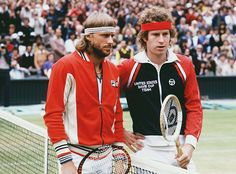The Best Tennis Fashion and Style Moments of All Time  Hot shot rivals Björn Borg and John McEnroe faced off at the 1980 Wimbledon Finals. Four-time champion Björn defended his title beating McEnroe in what is referred to as one of the gretest matches of all time