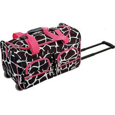 """$15 pink Rockland Luggage 22"""" Rolling Duffle Bag, Multiple Colors"""