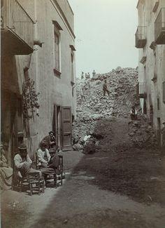 Sommer, Giorgio:  The Edge Of The Lava Eruption, 1872.