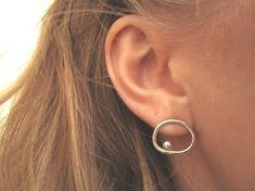 Cute Sterling Silver Earrings Little Me by KarolineFosse on Etsy, $59,00