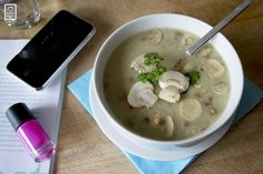 FOOD: Volle champignonsoep met knoflookbrood - BodieBoost