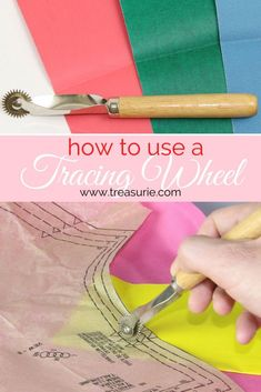 TRACING WHEEL | How to Use a Tracing Wheel | TREASURIE Sewing Basics, Sewing Hacks, Sewing Tutorials, Sewing Paterns, Sewing Patterns Free, Clothing Patterns, Tracing Tools, Sewing Classes For Beginners, Sewing Online