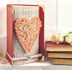 Book Folding Valentine's Project | Create and Craft