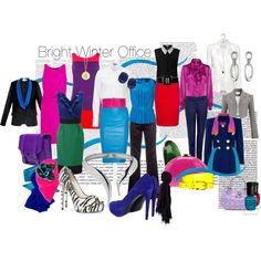 """""""Bright Winter Office"""" by spicemarket on Polyvore"""