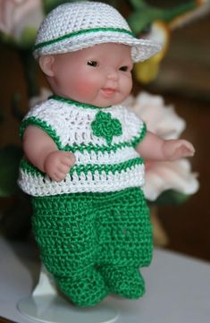 Baby Clothes Patterns, Doll Patterns, Crochet Patterns, Crochet Doll Dress, Crochet Barbie Clothes, Crochet Hooks, Crochet Baby, Bitty Baby Clothes, Chubby Babies