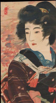 Spring Bijin 1910-20   by Ito Shinsui
