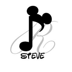 music note Mickey mouse tattoos | Personalized Disney Mickey Mouse Music Note by RandRCustomDesigns, $5 ...