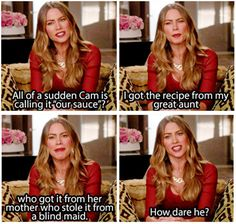 """When she defended her """"family"""" recipe. 