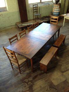 Extension Farm Table Antique Wood By Mobili Farm Tables