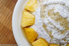 Pouding Chia au Citron et Ananas | Recettes délicieuses pour tous les jours, qui suivent le régime hypotoxique, sans gluten et produits laitiers.
