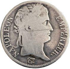 1812 W France Bonaparte Napoleon silver 5 francs coin www.numismaticland.co.uk