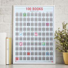 100 Books Scratch Bucket List Poster by Gift Republic, the perfect gift for Explore more unique gifts in our curated marketplace. 30th Birthday Presents, Birthday List, Unique Presents, Unique Gifts, 40th Wedding Anniversary, Gifts For Bookworms, Little Free Libraries, Book Lovers Gifts, Parent Gifts