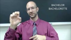 "The sign for BREAKING BAD in American Sign Language (ASL). In this video I discussed the sign for ""The Walking Dead"" and ""The Bachelor/Bachelorette"". I expla..."