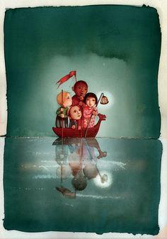 Rébecca Dautremer - Contes autour du monde | Oeuvres | Galerie Robillard