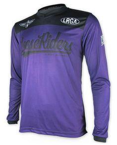 Loose Riders Herren TEAM ISSUE PURPLE Jerseys Langarm.Sportwear,Radsport Style