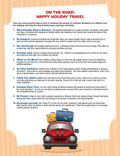 Tips to have a successful trip with young children.