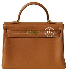 ed15da553409 Créateurs de Luxe - 35cm Hermès Gold Togo Leather Kelly Handbag - Gold  Hardware Gold Handbags