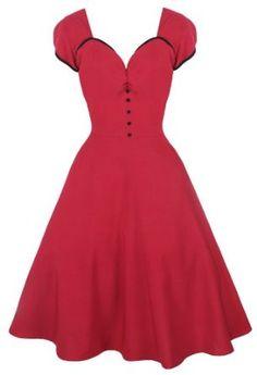 Lindy Bop 'Bella' Classy Vintage 1950's Rockabilly Style Raspberry Pink Swing Party Jive Dress Was $69.99 Now $39.99