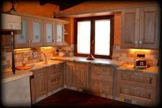 cucina carlini modello vecchio casale castagno massello