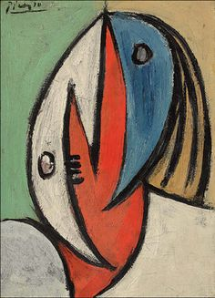 dynamitefists:PABLO PICASSO (1881-1973) Tête signed 'Picasso' (upper left) oil on canvas