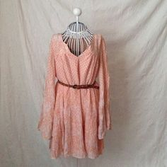 NWOT Free People Long Sleeve Boho Tunic Dress Please feel free to make an offer! I'm happy to answer any questions you may have or help you bundle up a few of your favorites at a discounted price!! :) Free People Dresses