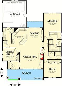 Plan 6935AM: Open Living Area In Craftsman Design