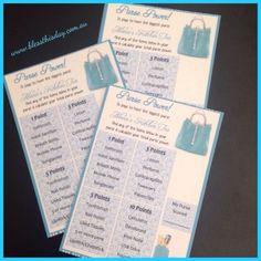 Bridal Shower Kitchen TEA Game Purse Power 20 Guests | eBay