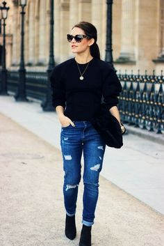 Alexander Wang X H&M Collection (The Little Magpie) Street Outfit, Outfit Posts, Fashion Outfits, Womens Fashion, Her Style, Alexander Wang, Fashion Beauty, Mom Jeans, Street Style