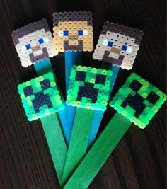 Minecraft Inspired Party Favor Bookmarks  Set by SavethePageShop, $6.00