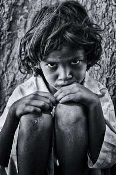 Its inspirational because it shows the appearance of the little boy that he has had a rough journey so far but if you are going through hell keep going because there is a brighter future. Untitled... India, 2012. S)