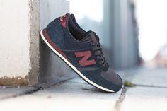 new balance chaussures wl574 encap lie de vin et noir