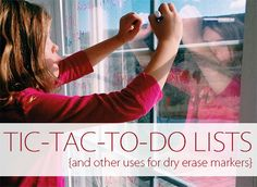 Tic-Tac-To-Do Lists {And Other Uses for Dry Erase Markers} | Home Your Way