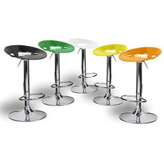 @Overstock - Manhattan Contemporary Adjustable Barstool - The cool Manhattan has an ergonomically contoured seat made from ABS resin with a high gloss finish. Contemprary Adjustable Height barstool collection in 5 colors.  http://www.overstock.com/Home-Garden/Manhattan-Contemporary-Adjustable-Barstool/10036903/product.html?CID=214117 $79.99