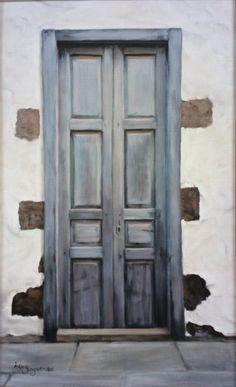 Blue Door,   oil on linen