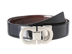 Reversible Black/Auburn and adjustable can be cut to size for a custom fit.. Width: 1 1⁄4 in Lentgh: from the pin of buckle till the middle hole of 5 holes (choose your size) Made in Italy