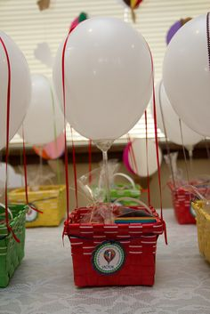 Favors at a Hot Air Balloon Party #hotairballoon #favors