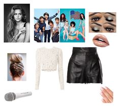 """""""2nd concert of Rock my DNA tour & where you and niall become best freinds"""" by haileebelle on Polyvore featuring Monday, A.L.C., Moschino and Sennheiser"""