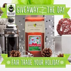 Warming the hearts of snowmen everywhere, this seasonal blend from Just Love Coffee Roasters is sure to have you decking the halls with cups of coffee--not to mention singing a carol or two! Enter to win it here: http://fairtradeusa.org/holidays/gift-guide#giveaway