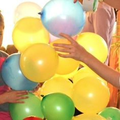 Bursting Your Balloons - tie a balloon to kids ankle and tell them to pop each others balloon. Person with the last balloon wins