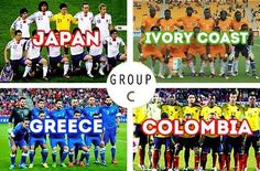 FIFA World Cup Brazil 2014 Draw. Group C. #worldcup, #brasil2014, #soccer.
