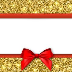 Gold with red background and bow vector 01