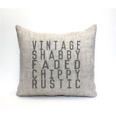 Farmhouse Pillow Vintage Pillow Farmhouse Decor Rustic Pillow Throw... ($55) ❤ liked on Polyvore featuring home, home decor, throw pillows, decorative pillows, home & living, home décor, silver, black accent pillows, textured throw pillows and black toss pillows