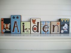 Name Blocks . Lambs and Ivy Bow Wow Buddies.  by RessieLillian, $13.00