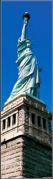 Air Panorama Statue Of Liberty Panoramic Picture Taken Vertically 36 X 12